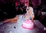Paris Hilton Destroys Her 38th Birthday Cake While Passionately Dancing