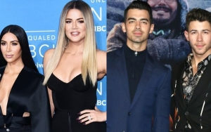 Kim Kardashian Shocked by Jonas Brothers' Epic Impersonation of Her Purse Fight With Khloe
