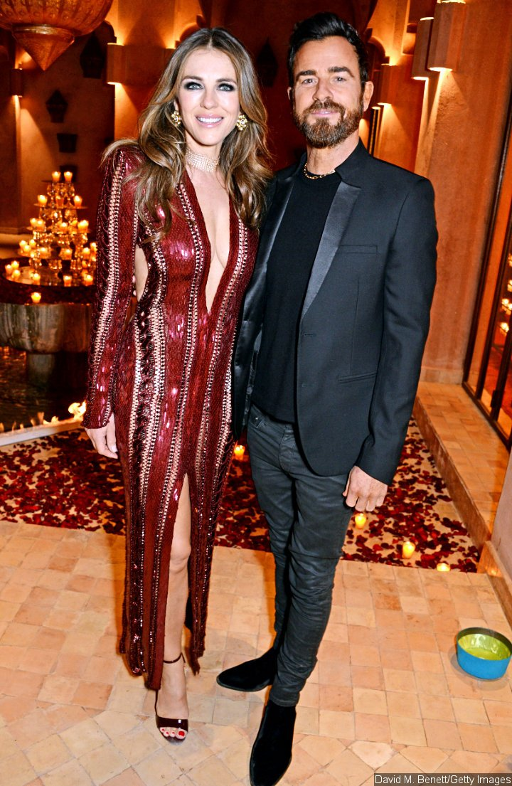 Justin Theroux and Elizabeth Hurley at the ABB FIA Formula E Championship Dinner