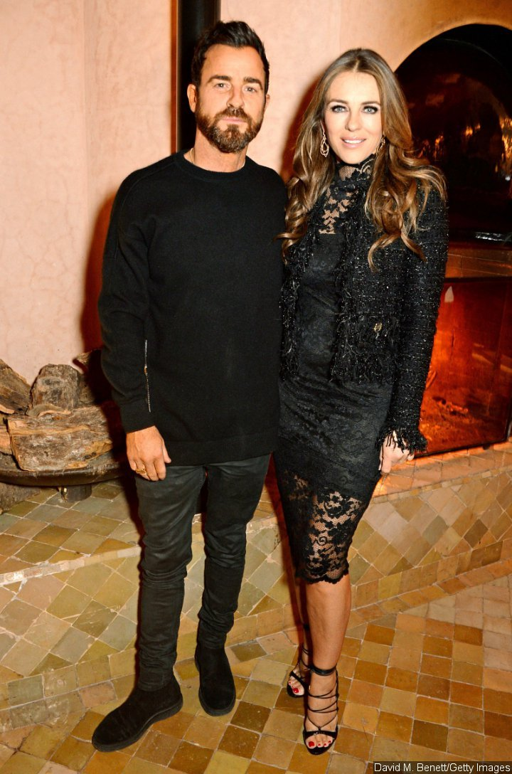 Justin Theroux and Elizabeth Hurley at the ABB FIA Formula E Championship event in Morocco