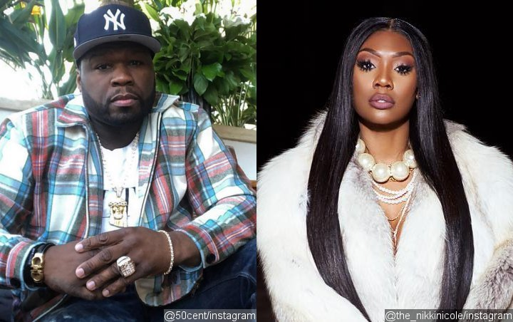 50 Cent Engages in PDA With Nikki Nicole, Throws $30K at Strip Club