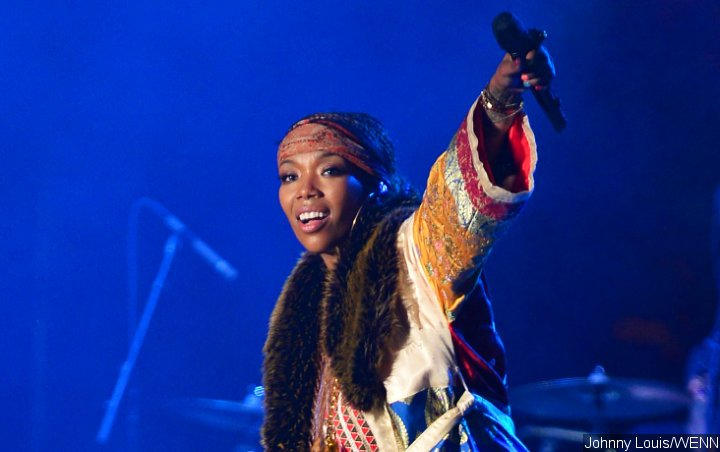 Video: Brandy Takes a Tumble During Performance in Florida