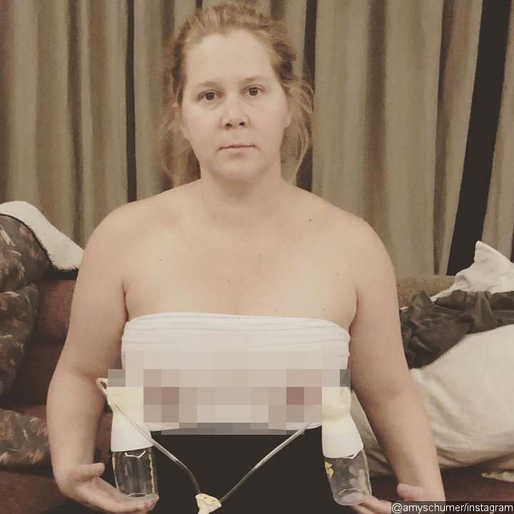 Amy Schumer Pumps Breastmilk in an Uncensored Photo