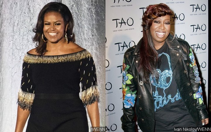 Michelle Obama Applauds Missy Elliott at Songwriters Hall of Fame Induction
