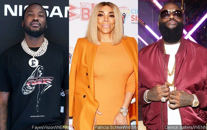 Pic: Meek Mill Looks Weirded Out While Sharing Kiss With Wendy Williams at Rick Ross' Party