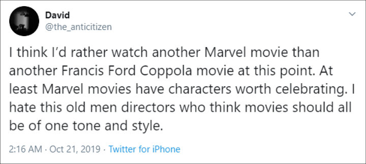 Fan defended Marvel movies