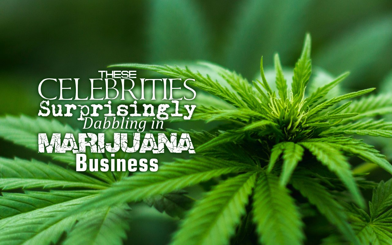 These Celebrities Surprisingly Dabbling in Marijuana Business