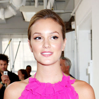 Leighton Meester in Mercedes-Benz Fashion Week Spring 2009 - Julie Haus Show
