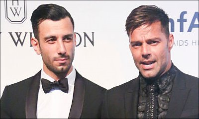 Ricky Martin Debuts New Boyfriend and Passionately Kisses Fan at amFAR Event