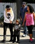 Christina Aguilera Reunites With Ex-Husband to Celebrate Halloween With Son