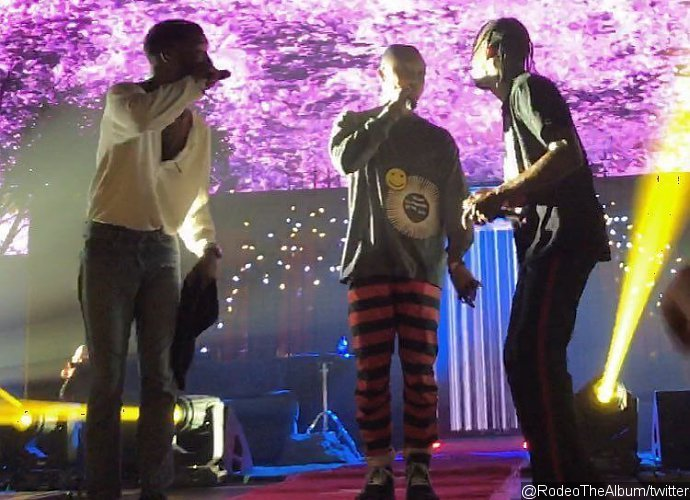 Kid Cudi Performs With Pharrell and Travi$ Scott in His First Stage Return Since Rehab