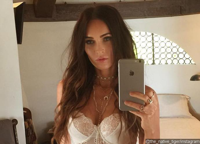 Megan Fox Poses in Revealing Lace Lingerie