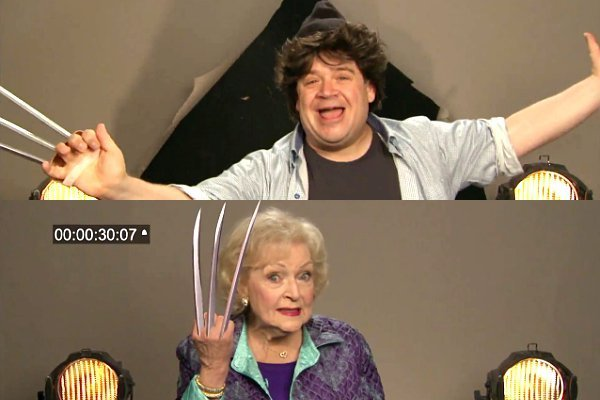 Video: Patton Oswalt, Betty White Join Wolverine Auditions Held by Conan O'Brien