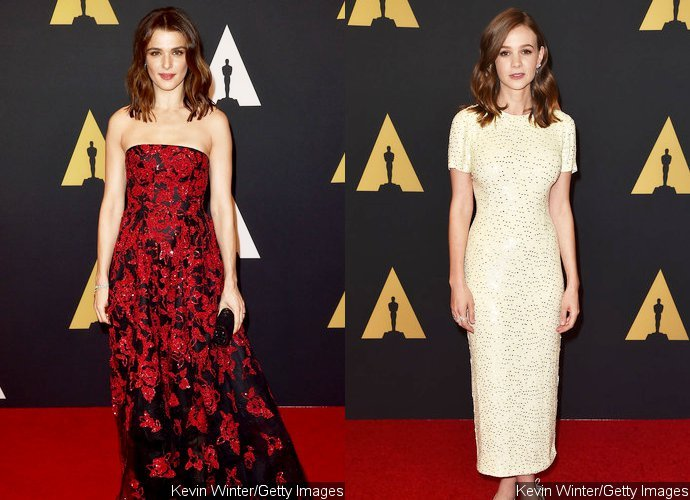 Rachel Weisz and Carey Mulligan Glam Up on Red Carpet at 2015 Governors Awards