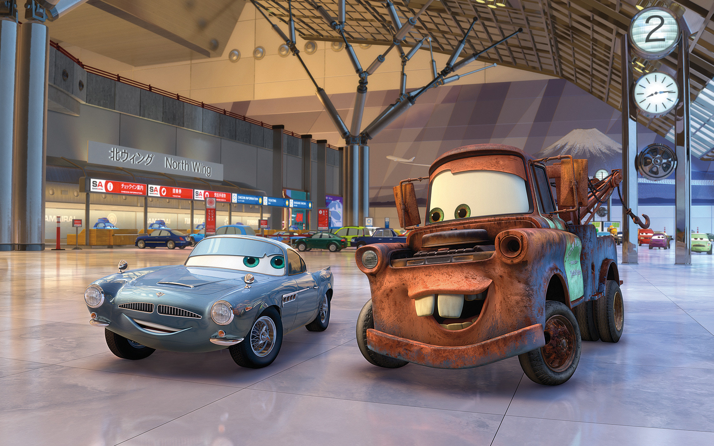 A scene from Walt Disney Pictures' Cars 2 (2011)