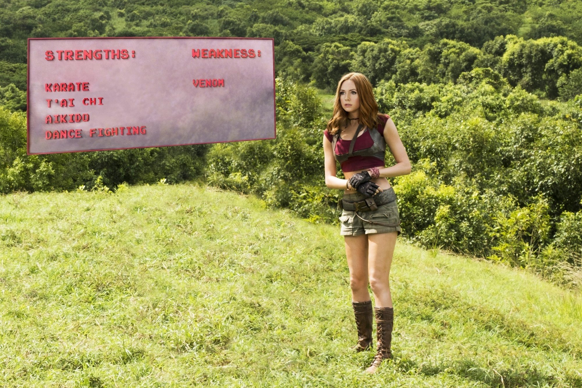 Karen Gillan stars as Martha in Columbia Pictures' Jumanji: Welcome to the Jungle (2017)