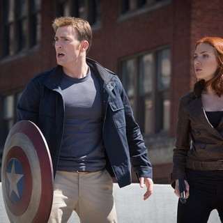 Chris Evans stars as Steve Rogers/Captain America and Scarlett Johansson stars as Natasha Romanoff/Black Widow in Walt Disney Pictures' Captain America: The Winter Soldier (2014)