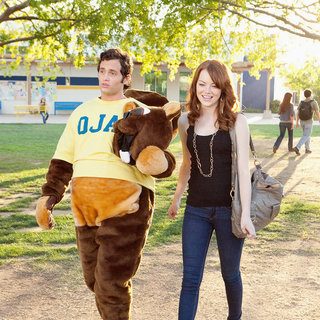 Penn Badgley stars as Woodchuck Todd and Emma Stone stars as Olive Penderghast  in Screen Gems' Easy A (2010)