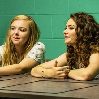 Elsie Fisher stars as Kayla and Emily Robinson stars as Olivia in A24's Eighth Grade (2018)