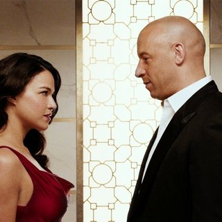 Michelle Rodriguez stars as Letty Ortiz and Vin Diesel stars as Dominic Toretto in Universal Pictures' Furious 7 (2015)