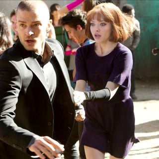 Justin Timberlake stars as Will Salas and Amanda Seyfried stars as Sylvia Weis in 20th Century Fox's In Time (2011)