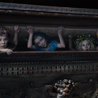 Imelda Staunton, Juno Temple and Lesley Manville in Walt Disney Pictures' Maleficent (2014)