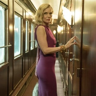 Michelle Pfeiffer stars as Mrs. Hubbard in 20th Century Fox's Murder on the Orient Express (2017)