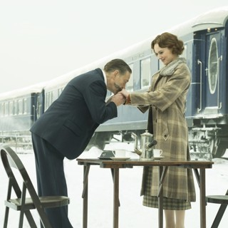 Kenneth Branagh stars as Hercule Poirot and Daisy Ridley stars as Mary Debenham in 20th Century Fox's Murder on the Orient Express (2017)