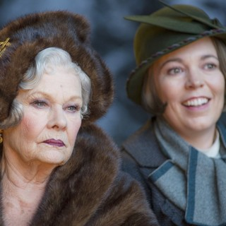 Judi Dench stars as Princess Dragomiroff and Olivia Colman stars as Hildegarde Schmidt in 20th Century Fox's Murder on the Orient Express (2017)