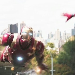 Iron Man and Spider-Man from Sony Pictures' Spider-Man: Homecoming (2017)