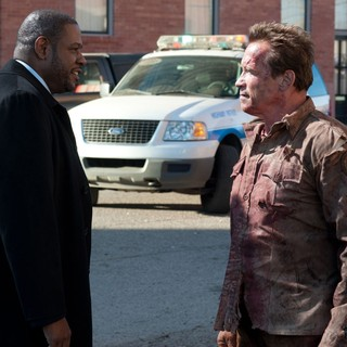 Forest Whitaker stars as Agent John Bannister and Arnold Schwarzenegger stars as Sheriff Ray Owens in Lionsgate Films' The Last Stand (2013)