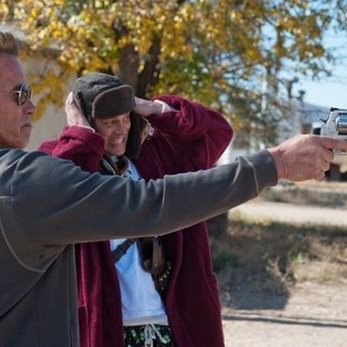 Arnold Schwarzenegger stars as Sheriff Ray Owens and Johnny Knoxville stars as Lewis Dinkum in Lionsgate Films' The Last Stand (2013). Photo credit by Merrick Morton.