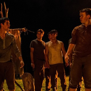 Dylan O'Brien stars as Thomas and Will Poulter stars as Gally in 20th Century Fox's The Maze Runner (2014)