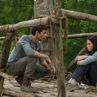 Dylan O'Brien stars as Thomas and Kaya Scodelario stars as Teresa in 20th Century Fox's The Maze Runner (2014)