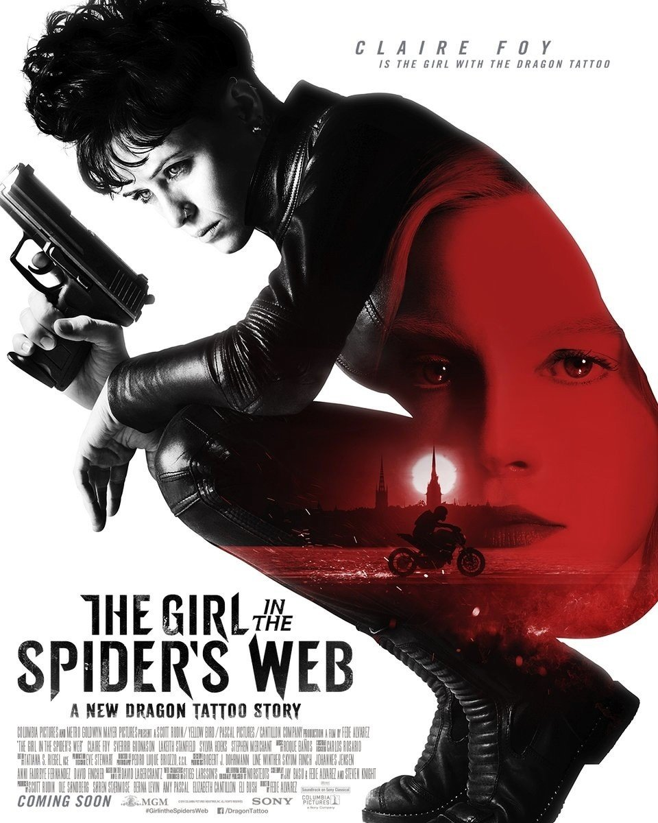 Poster of Sony Pictures' The Girl in the Spider's Web (2018)