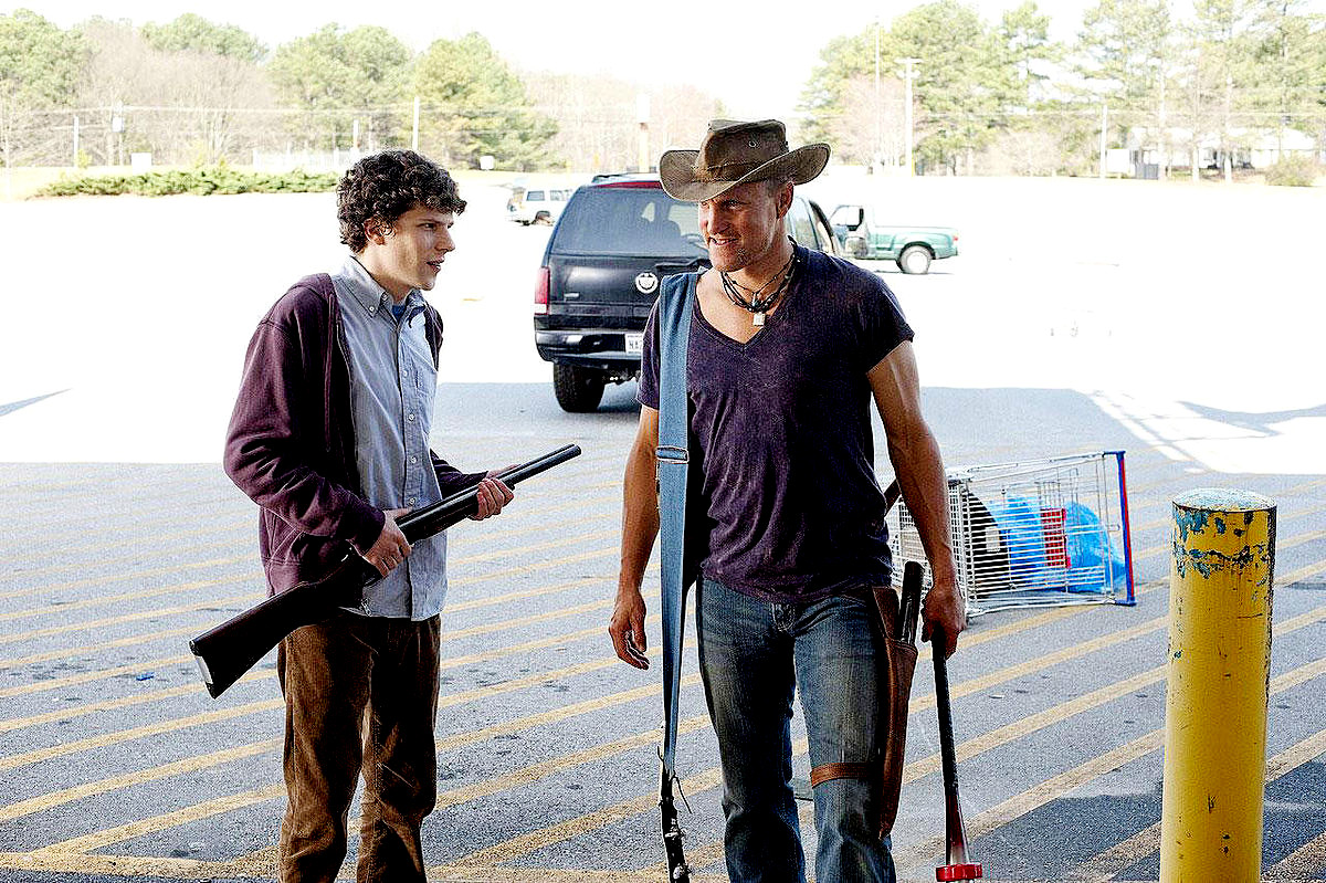 Jesse Eisenberg stars as Columbus and Woody Harrelson stars as Tallahassee in Columbia Pictures' Zombieland (2009)