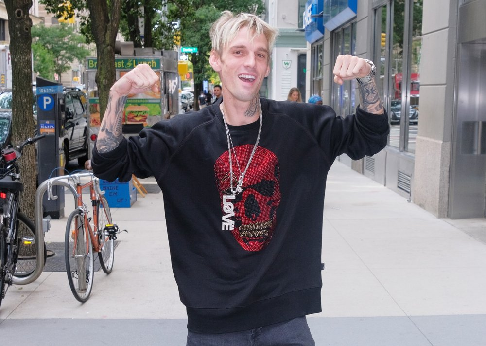 Aaron Carter<br>Aaron Carter Outside The Sony Building