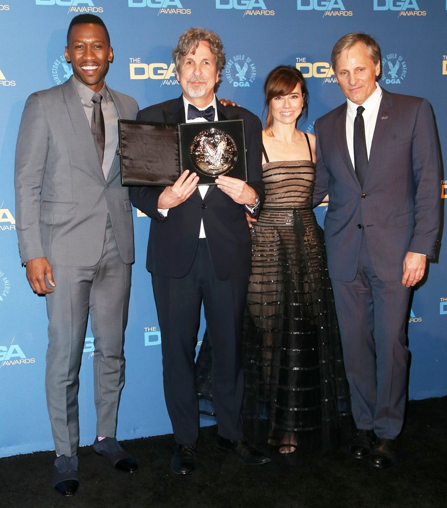 Mahershala Ali, Peter Farrelly, Linda Cardellini, Viggo Mortensen<br>71st Annual Directors Guild of America Awards - Press Room
