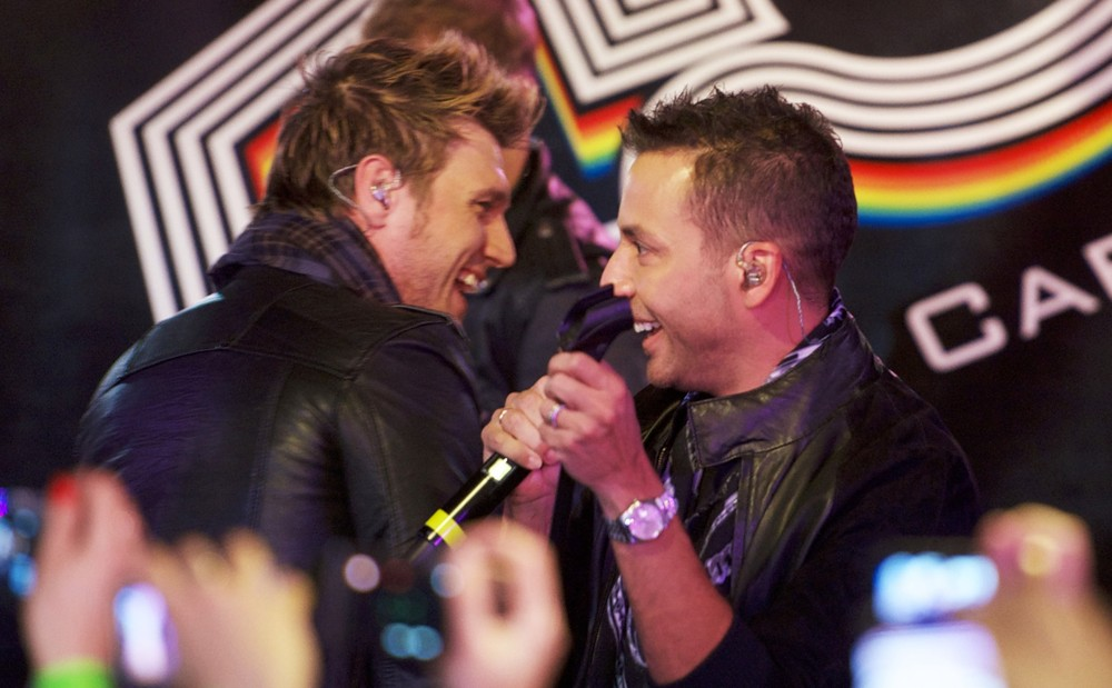 Nick Carter, Howie Dorough, Backstreet Boys<br>Backstreet Boys Perform at A Fan Gathering to Promote Their Album In A World Like This