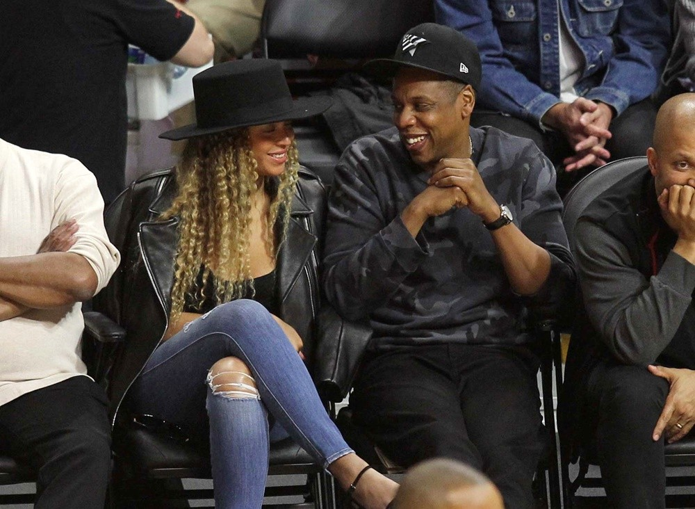 Beyonce Knowles, Jay-Z<br>The Los Angeles Clippers Game