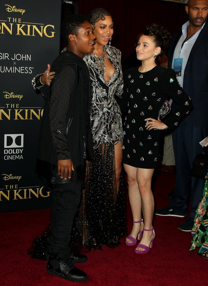 Issac Ryan Brown, Beyonce Knowles, Sky Katz<br>Disney's The Lion King World Premiere