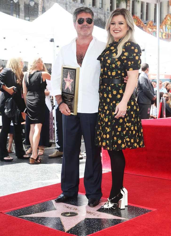 Simon Cowell, Kelly Clarkson<br>Simon Cowell Is Honoured with A Star on The Hollywood Walk of Fame