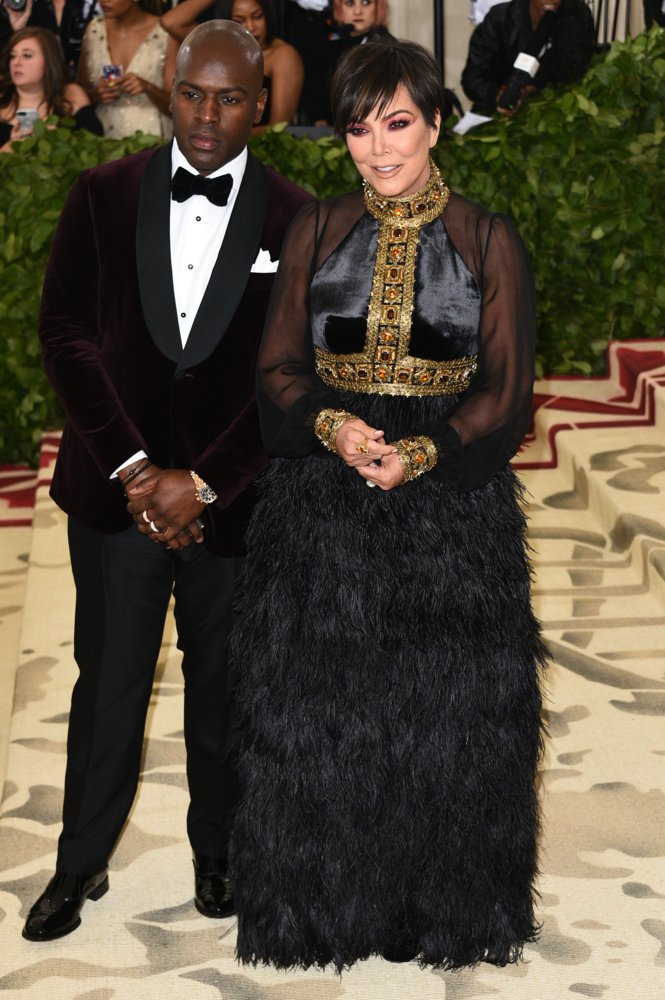 Corey Gamble, Kris Jenner<br>The 2018 Costume Institute's MET Gala Benefit - Red Carpet Arrivals