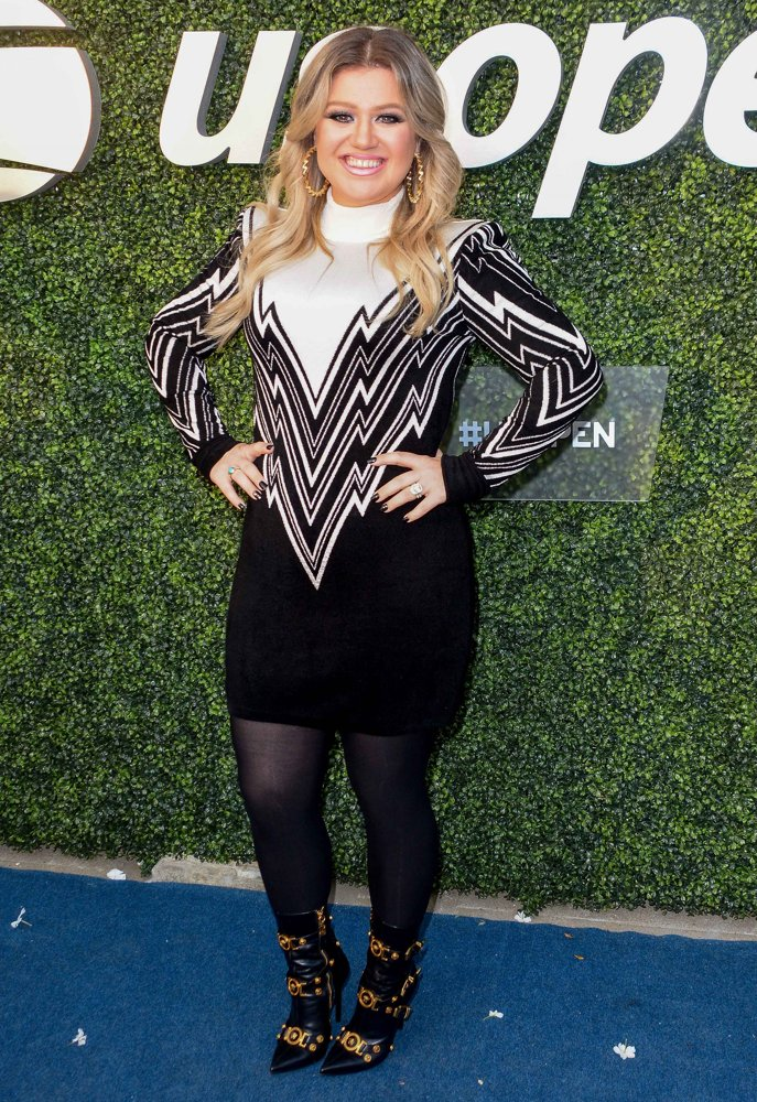 Kelly Clarkson<br>Blue Carpet at The 2018 US Open Tennis Championship