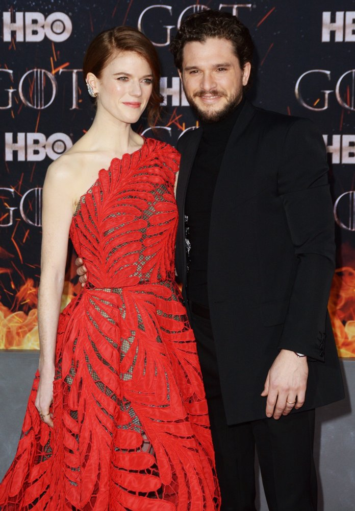 Rose Leslie, Kit Harington<br>Game of Thrones Season 8 Premiere - Red Carpet Arrivals