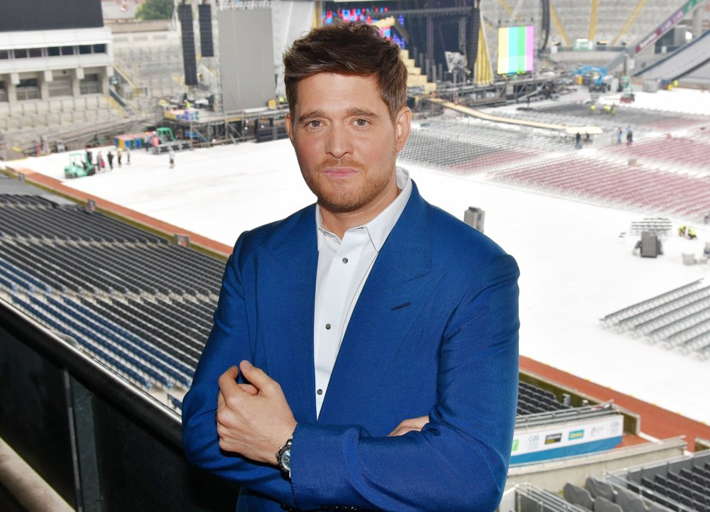 Michael Buble<br>Michael Buble Poses at Croke Park