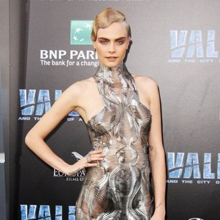 Cara Delevingne in Valerian and the City of a Thousand Planets Premiere
