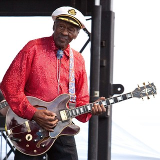 Chuck Berry Performs During The Las Vegas Rockabilly Weekend