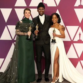 Olivia Colman, Mahershala Ali, Regina King in 91st Annual Academy Awards - Press Room