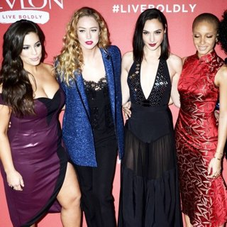 Ashley Graham, Raquel Zimmermann, Gal Gadot, Adwoa Aboah, Imaan Hammam in Launch of Revlon's Live Boldly Campaign